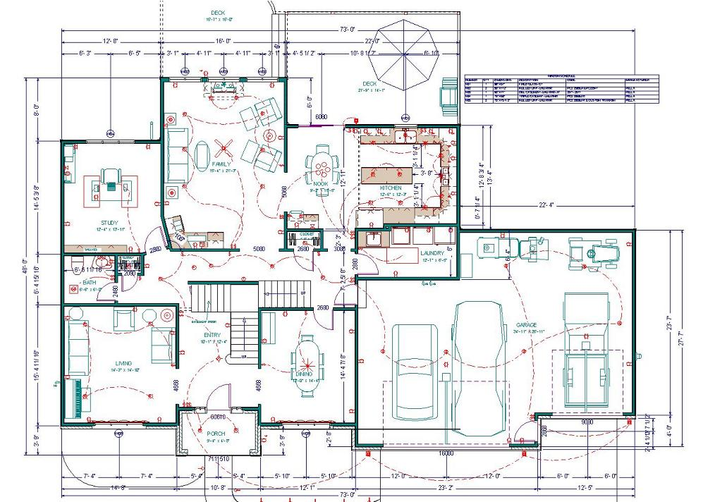 Sample house floor plans for Home designs usa